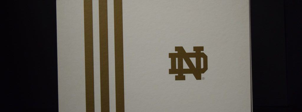 Notre Dame ADIDAS Limited Edition Shoe Box