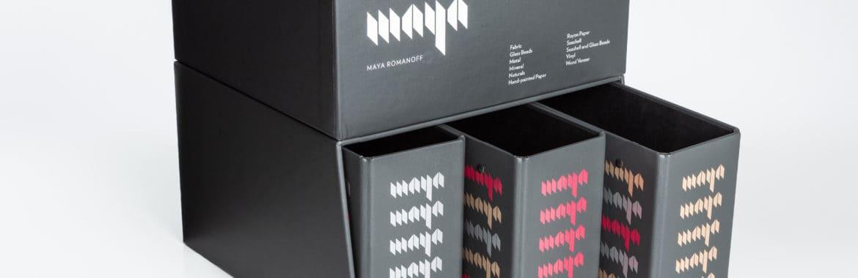 Maya Romanoff Swatch Binder and Box Set